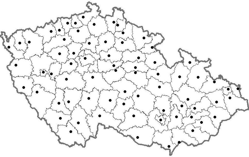 Slepa Mapa Cr Mapa Cr Ceske Republiky